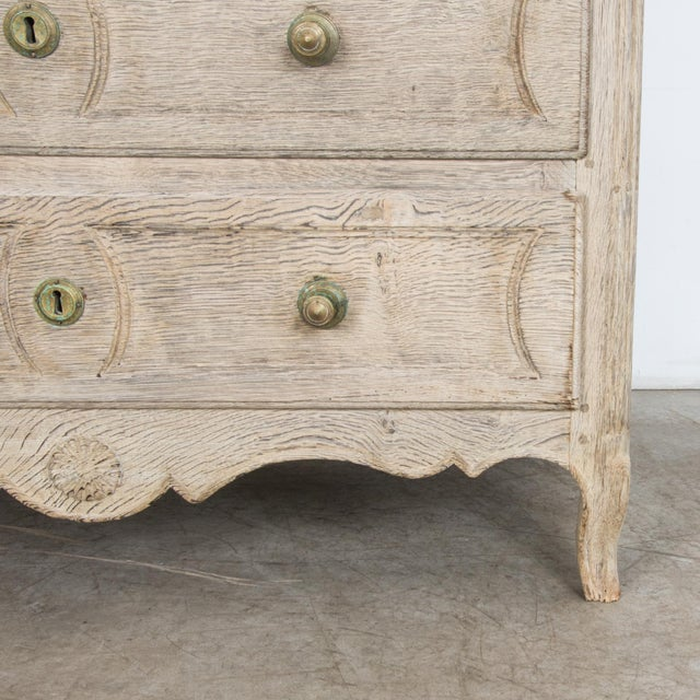 French Provincial Bleached Oak Buffet a Deux Corps For Sale - Image 11 of 13