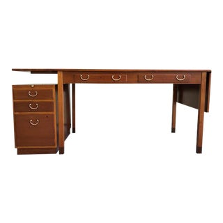 1950s Scandinavian Modern David Rosén Desk / Skrivbord Nordiska Kompaniet/ Drop Leaf Writing Desk For Sale