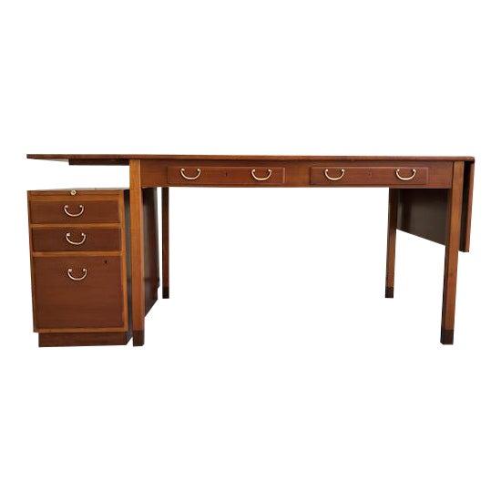 1950s Scandinavian Modern David Rosén Desk / Skrivbord Nordiska Kompaniet/ Drop Leaf Writing Desk For Sale