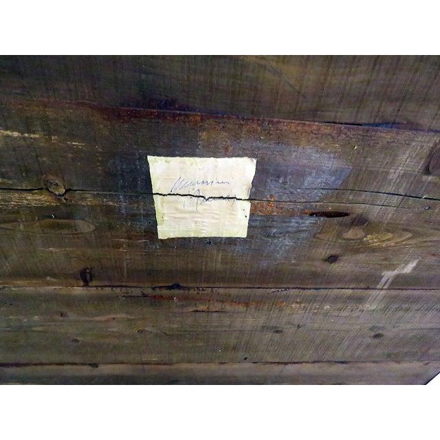 Brown Vintage Olivewood Secretary Desk For Sale - Image 8 of 11
