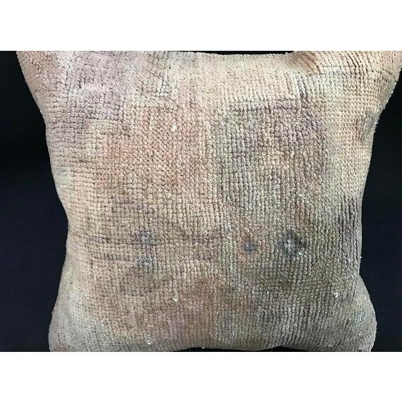 Textile 1960s Art Nouveau Handwoven Oushak Wool Pillow Case For Sale - Image 7 of 10