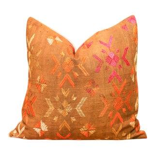 Vibrant Nivanshi Bagh Phulkari Pillow For Sale