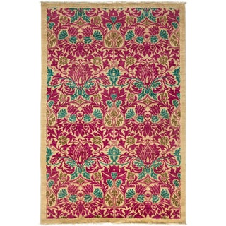 "Arts & Crafts Hand Knotted Area Rug - 4'10"" X 7'4"" For Sale"