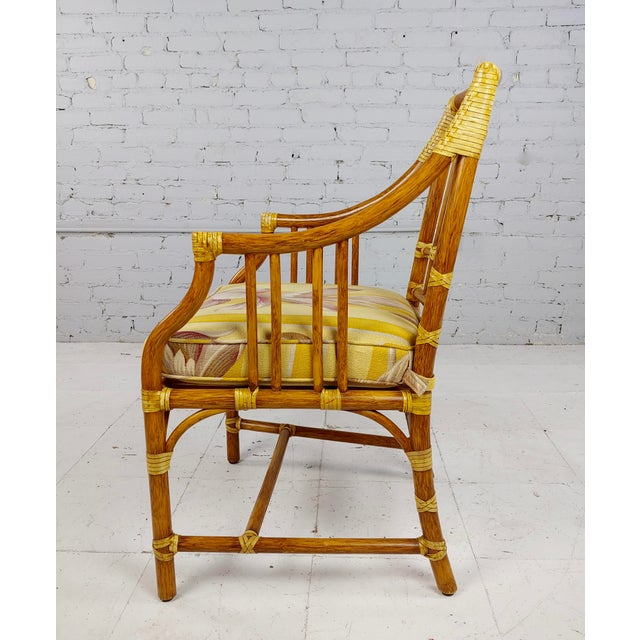 Vintage McGuire Rattan Dining Chairs - Set of 4 For Sale In Los Angeles - Image 6 of 11
