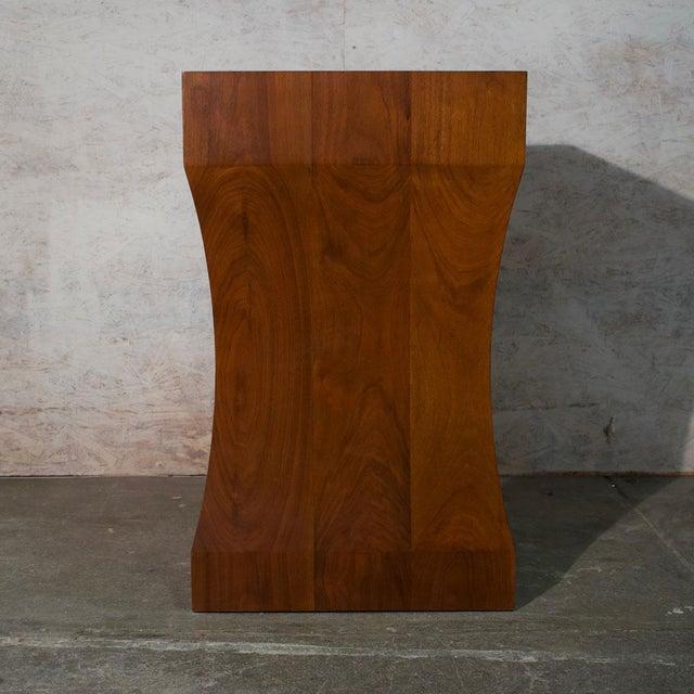 Walnut Pedestal For Sale - Image 4 of 7