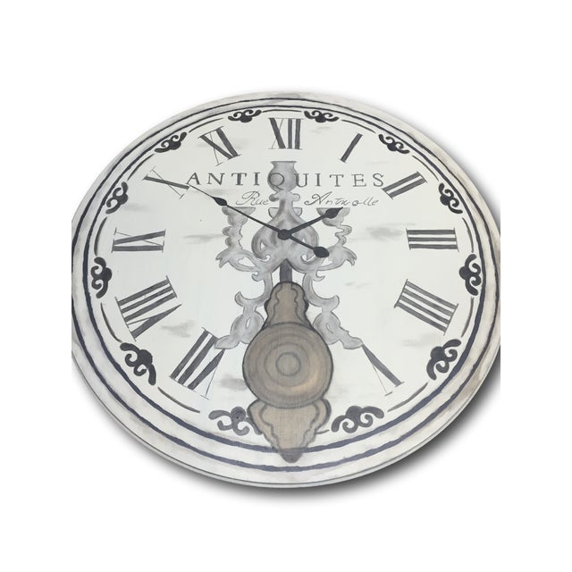 French French Clock Accent Table For Sale - Image 3 of 7