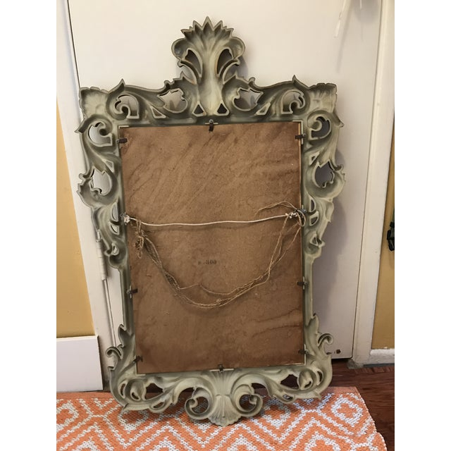 Mid-Century Gold Scroll Mirror - Image 9 of 9