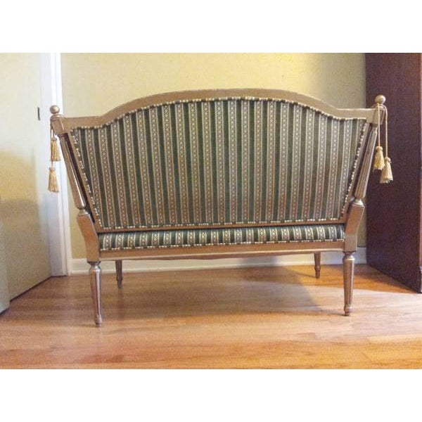 19th-Century Louis XVI-Style Settee For Sale - Image 5 of 11