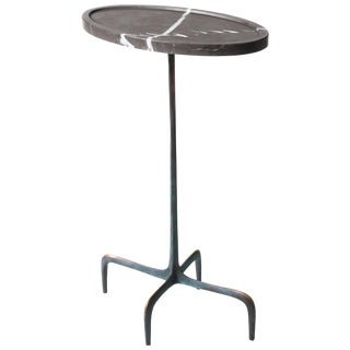 Antu-Made Bronze and Stone Ghost Drinks and Accent Table