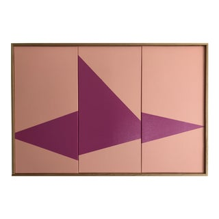 "Original Acrylic Painting ""Pink On Point Triptych JET0527"""