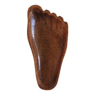 Wooden Foot Catchall For Sale