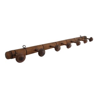 French Faux Bamboo Wall Mounted Coat Rack For Sale