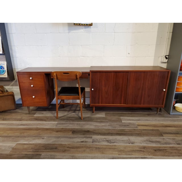 Mid-Century Modern Desk & Credenza - A Pair For Sale - Image 10 of 13