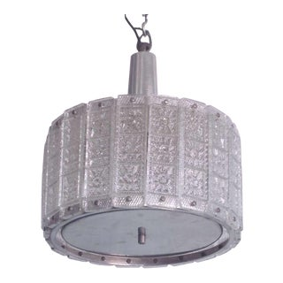 Austrian Glass Pendant or Fixture Attributed to J.T. Kalmar