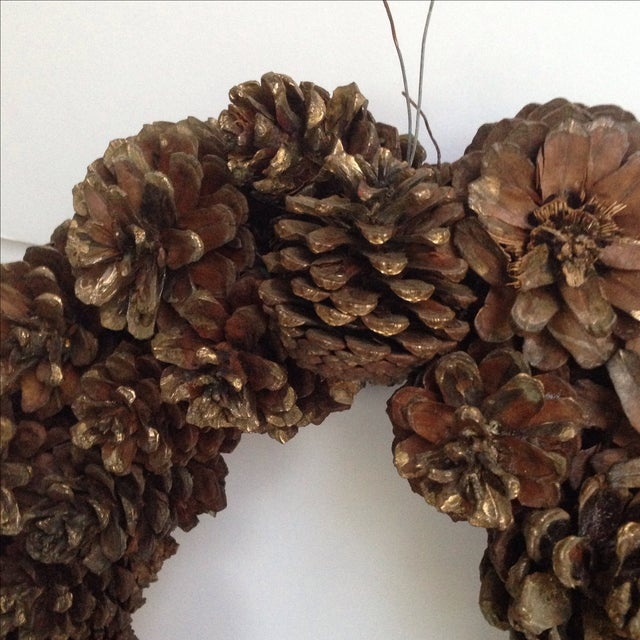Vintage Natural Pinecone Wreath - Image 7 of 11