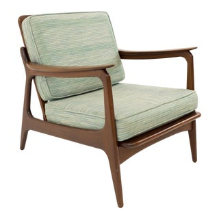 Mid Century Modern Hans Wegner Style Lounge Chair For Sale