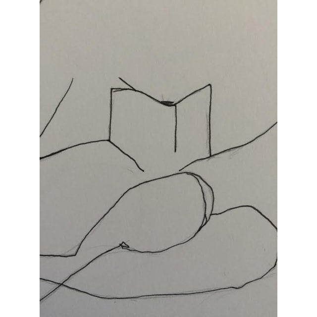 """""""Reading"""" Ink Drawing - Image 3 of 3"""
