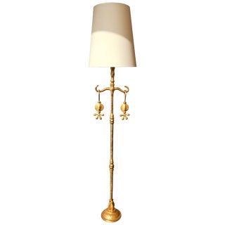 Floor Lamp Gilt Bronze by Nicolas Dewael for Fondica, France, 2000 For Sale
