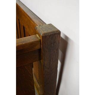 Antique Mission Arts & Crafts Solid Oak Bench Preview
