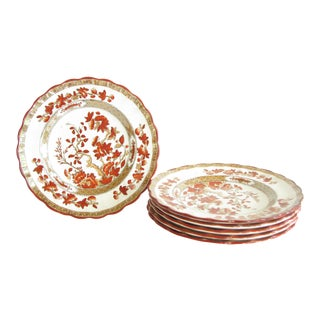 Antique Copeland Spode Indian Tree Scalloped Bread or Dessert Plates - Set of 6 For Sale