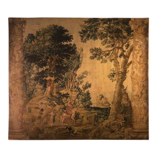 A Fine Tapestry Flemish Pastoral Delft Scene 17th Century Prov. Christies NYC For Sale