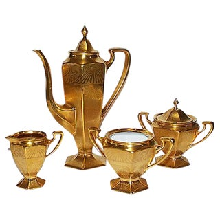 Limoge Deco Tea/Coffee Service - S/4 For Sale