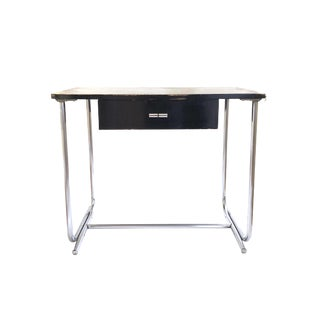 1930s Art Deco Chrome Tubular Steel and Wood Writing Desk For Sale