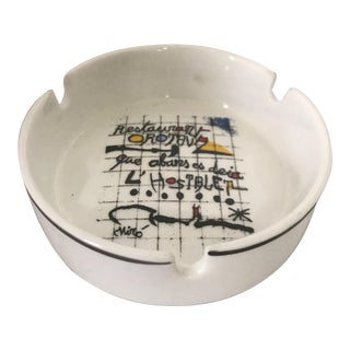 Vintage Joan Miro Ceramic Restaurant Ashtray