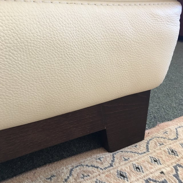 Roche Bobois Ivory Leather Serenite Sectional For Sale In San Francisco - Image 6 of 8