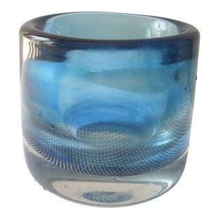1950s Orrefors Kraka, Glass Vase by Sven Palmqvist # 428 For Sale