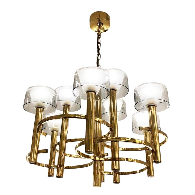 Gaetano Sciolari Brass Ceiling Light For Sale