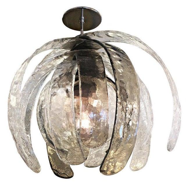 Artichoke Murano Glass Chandelier by Mazzega - Image 4 of 6