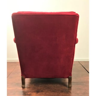 Early 20th Century Red Velvet Club Over Stuffed Louis XV Style Bergere Chair Preview