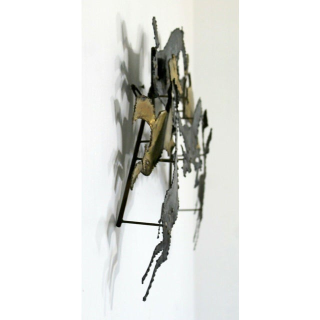 1960s 1960s Mid Century Modern Brutalist Hammered Metal Horse Wall Art Sculpture For Sale - Image 5 of 8