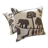 Image of Jungle Walk Pillow Covers - a Pair For Sale