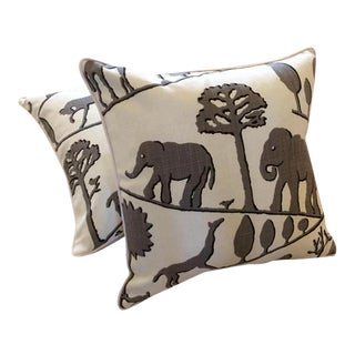 Jungle Walk Pillow Covers - a Pair For Sale