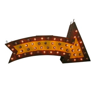 Perfectly Aged Lighted Carnival Arrow Circa 1950