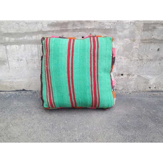Pink Striped Moroccan Floor Pillow - Image 3 of 4