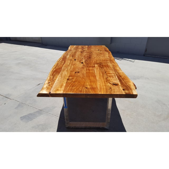 Acacia Wood Live Edge Dining Table - Image 4 of 9