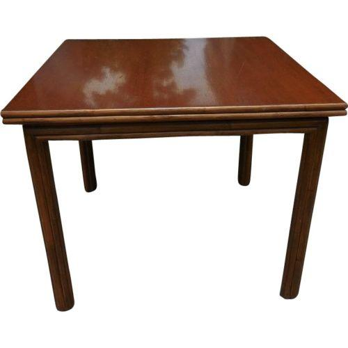 Traditional McGuire Flip Top Breakfast/Dining Table For Sale - Image 3 of 6
