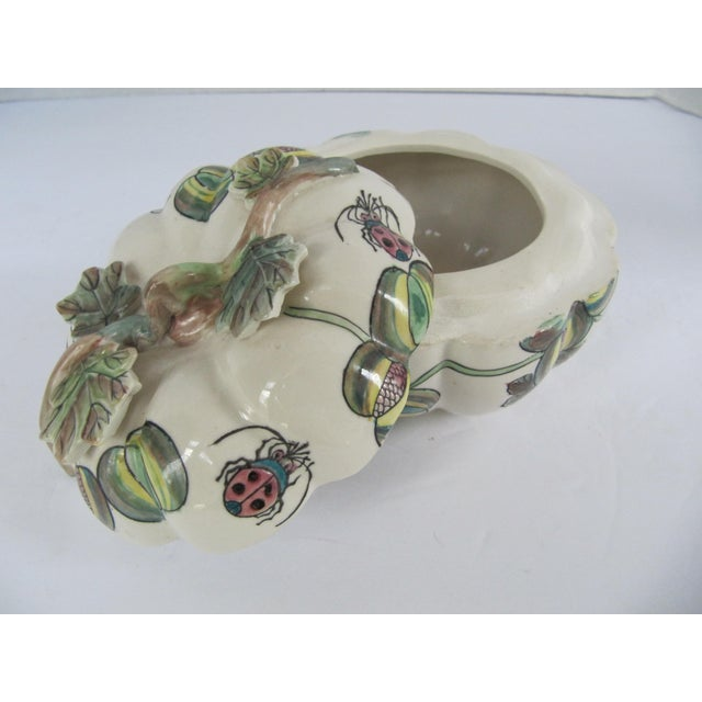1990s Vintage Chinoiserie Porcelain Pumpkin From Charles Willis Atlanta For Sale - Image 5 of 9