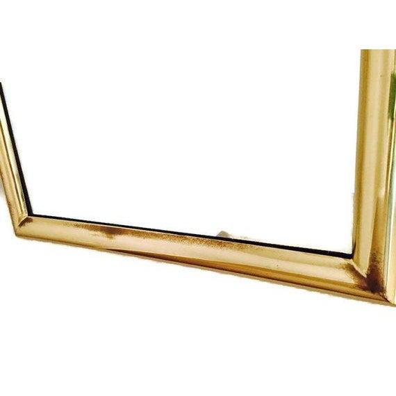 Hollywood Regency Brass Framed Mirror For Sale - Image 4 of 6