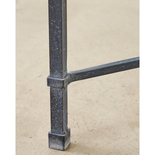 Black Brown Jordan Venetian Aluminum Cocktail Tables For Sale - Image 8 of 13
