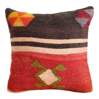 Vintage Kilim Square Pillow For Sale