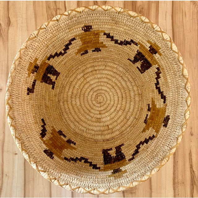 Mid 20th Century Authentic Vintage Native American Tohono O'Odham Woven Basket For Sale - Image 5 of 10