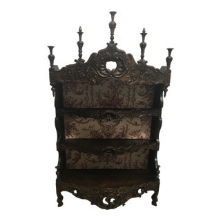 19th Century French Louis XV Bombe Shelf For Sale