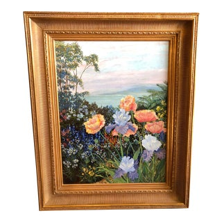 1980s Vintage Original Floral Painting by John Powell For Sale