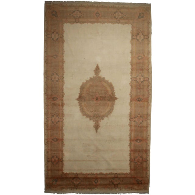 """RugsinDallas Persian Kerman Hand Knotted Rug - 10'1"""" X 17'8"""" For Sale"""