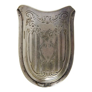 Art Deco Silver Plate Pocket Card or Cigarette Holder For Sale