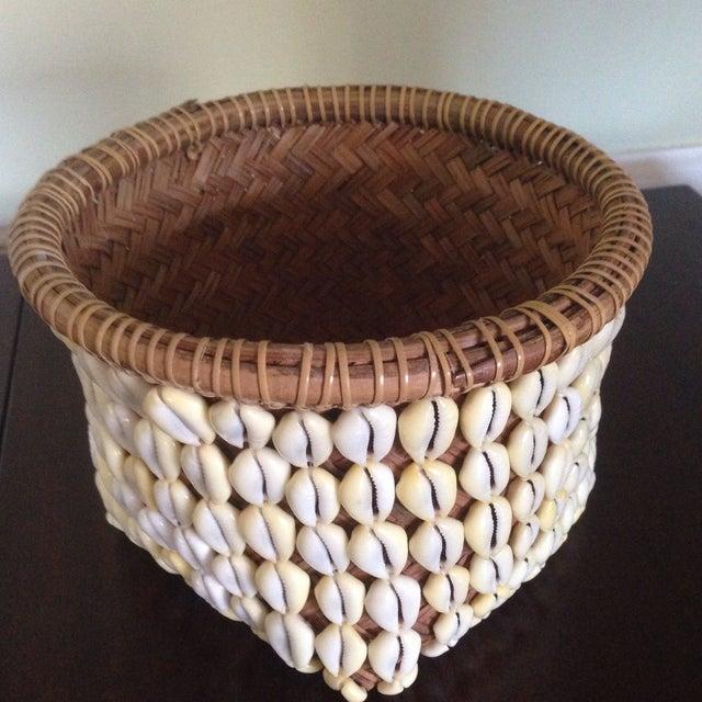 Vintage Woven Shell Basket - Image 11 of 11
